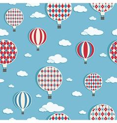 hot air balloons pattern vector image vector image