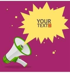 Megaphone text bubble card vector image
