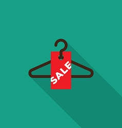 Sale tag with hanger icon vector image