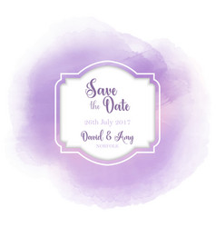 save the date watercolour design vector image vector image