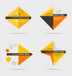 Set of geometric infographic elements vector image vector image