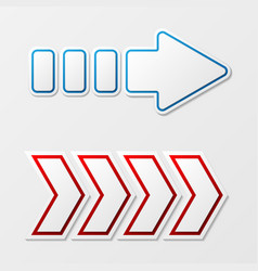 arrows with shadow vector image vector image