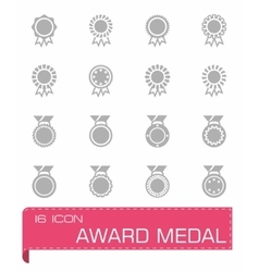 Award medal icon set vector image