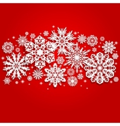 Christmas and New Years background with snowflakes vector image vector image