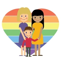 Gay family with kid flat vector image