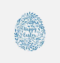 happy easter greeting card with lettering and vector image