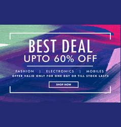 sale promotion poster design banner design vector image