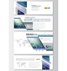 Social media and email headers set modern banner vector