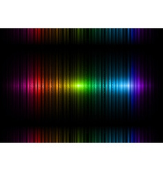 vertical lines abstract rainbow dark top center vector image vector image