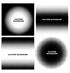Abstract halftone backgrounds with text vector image