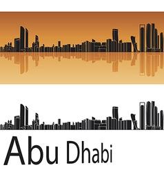Abu Dhabi skyline in orange background vector image vector image