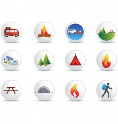 camping and outdoor signs vector image vector image
