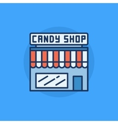 Candy shop flat icon vector image