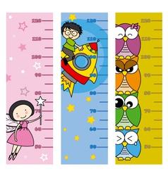 Children height meter vector image