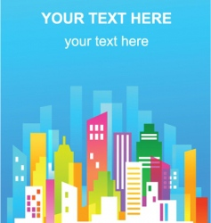 colorful city real estate flyer vector image vector image