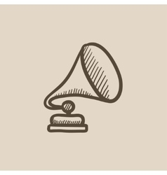 Gramophone sketch icon vector image