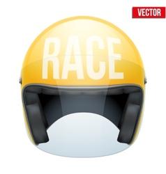 High quality racing motorcycle helmet vector image vector image