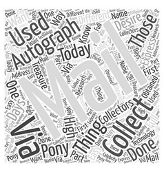 How to do autograph collecting via mail word cloud vector