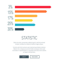 statistic design for web page vector image