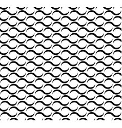 waves lines seamless pattern vector image