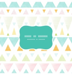 Abstract ikat triangles stripes frame seamless vector