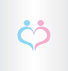 couple boy and girl heart love symbol vector image