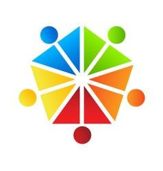 People Team Pentagon Logo vector image vector image