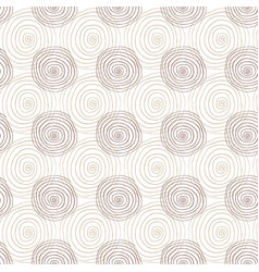 spiral seamless pattern in beige color repeating vector image vector image