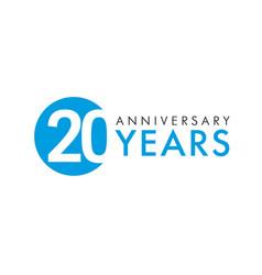 20 years logo concept vector