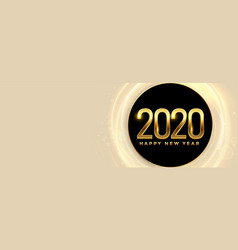 2020 happy new year banner with text space vector