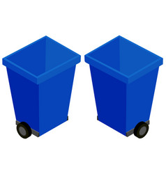 3d design for trashcan with wheels vector image