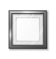 3d picture or photo frame design modern empty vector image