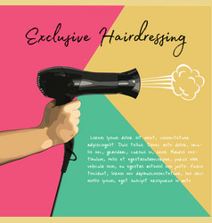 A hair dryer in hand vector