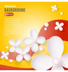 Abstract 3D Paper background vector image vector image