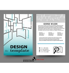 Abstract Brochure Flyer vector image