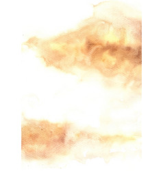 Abstract brown watercolor grunge background vector
