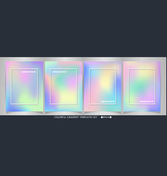 abstract of colorful soft sweet template set vector image