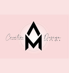 Am letter design icon logo with letters one vector