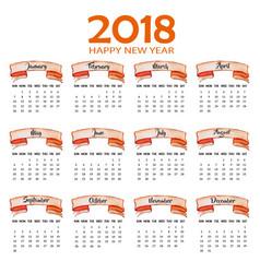 Annual calendar 2018 vector