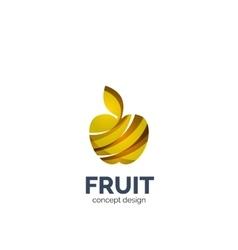 apple fruit icon vector image