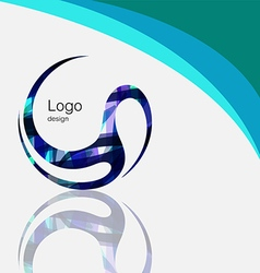 Art abstract symbol curve logo design vector image