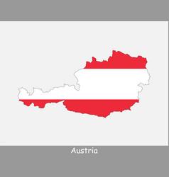 Austria map flag vector