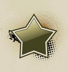 beautiful star art vector image vector image