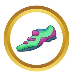 Bike sneaker icon vector