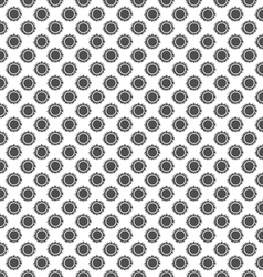 Black and white solar beams sun seamless pattern vector