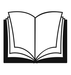 book dictionary icon simple black style vector image