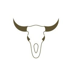 bull-skull vector image