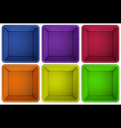 Colourful containers vector