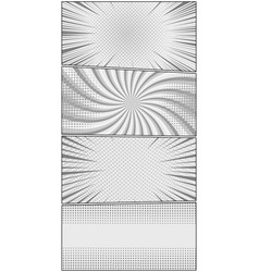 comic book page monochrome vertical concept vector image