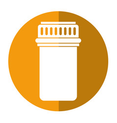 container capsule medicine icon shadow vector image